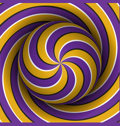 Optical motion sphere with a spiral pattern vector