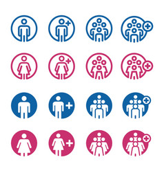 people and population icon vector image