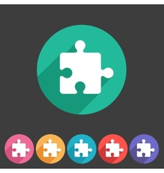 Puzzle flat icon vector image