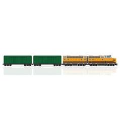 Railway train 05 vector
