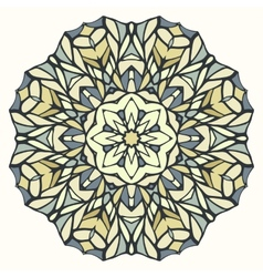 Round kaleidoscopic lace ornamental background vector