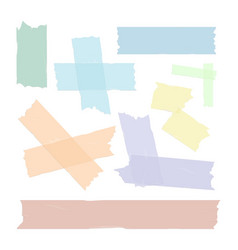 Scotch tape pieces set isolated vector
