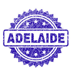 Scratched adelaide stamp seal vector