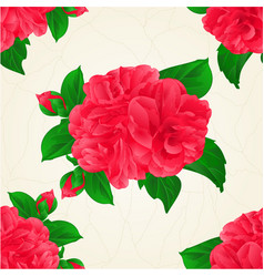 seamless texture camellia japonica red flowers vector image