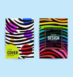 set design poster in color rainbow stripes vector image