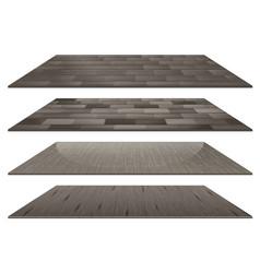 Set of different grey wooden floor tiles isolated vector