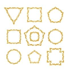 set of ten different retro floral frame vector image