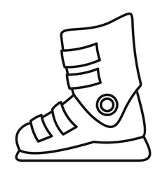 ski boots icon outline style vector image