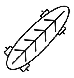 speed skateboard icon outline style vector image