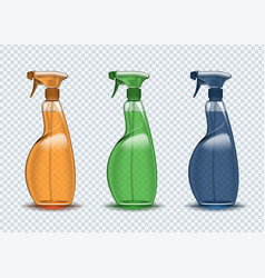 spray container cleaner on a transparent vector image