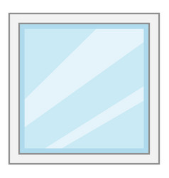 square window frame icon cartoon style vector image