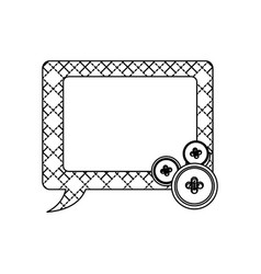 sticker figures square chat bubbles icon vector image