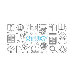 study education outline or vector image