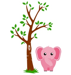 Tree and Elephant vector