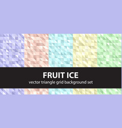 triangle pattern set fruit ice seamless vector image