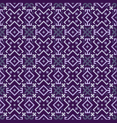Ultraviolet geometrical seamless pattern vector