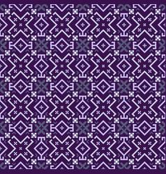ultraviolet geometrical seamless pattern vector image