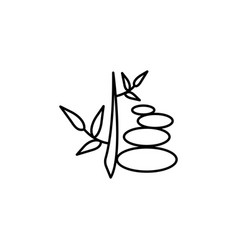 Walkway plant outline icon signs and symbols can vector