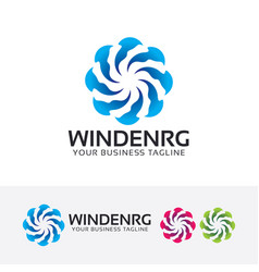 Wind energy logo design vector