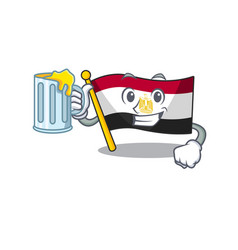 With juice flag egypt folded in mascot cupboard vector