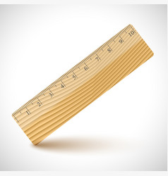 wood ruler and a magnifier vector image