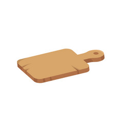 wooden cutting board icon in cartoon style vector image