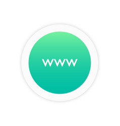www icon sign vector image
