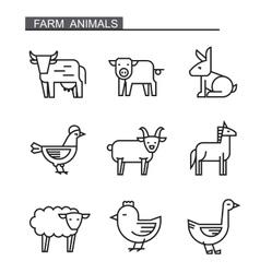 flat farm animal vector image