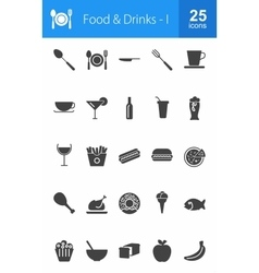Food and Drinks vector image vector image