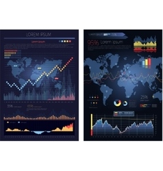 Graphic Chart with Map of the World Infographics vector image vector image