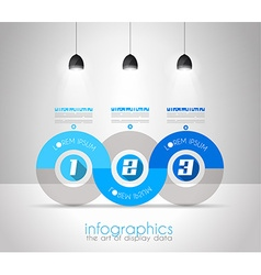Infographic Design Template with modern flat style vector image