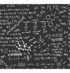 Seamless formula pattern vector image