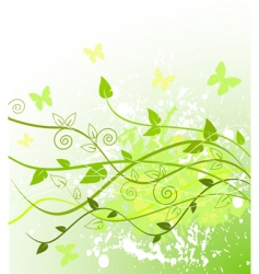 spring in green vector image vector image
