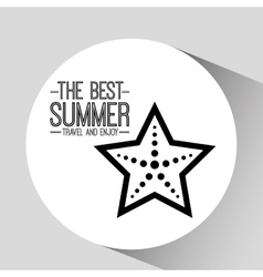 starfish card best summer travel and enjoy vector image vector image