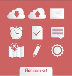 Universal flat icons vector image