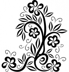 floral tattoo symbol vector image vector image