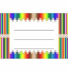 pencil label vector image vector image