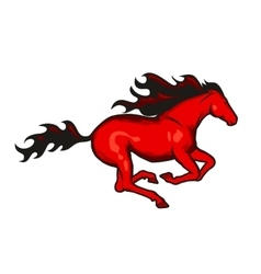 Red running horse vector image vector image