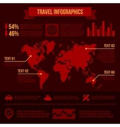 Travel Infographics vector image