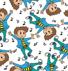 boy dancing pattern vector image