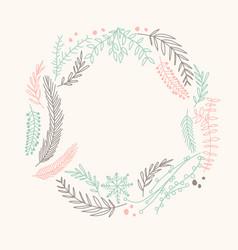 Multicolored filigree ornament circle wreath vector