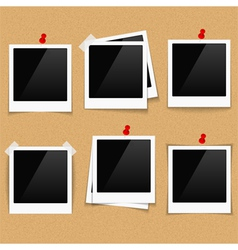 Photo Frames on Bulletin Board vector image vector image