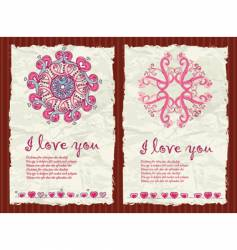 Valentine's Day Grunge Backgrounds 1 vector image vector image