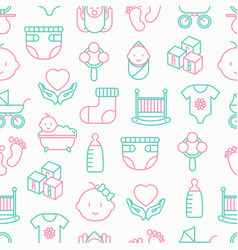 baby care seamless pattern vector image