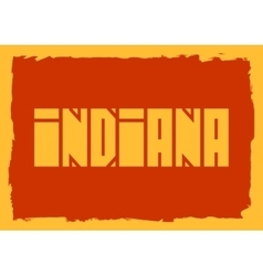 Indiana state name vector image vector image