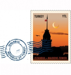 postmark from Istanbul vector image vector image