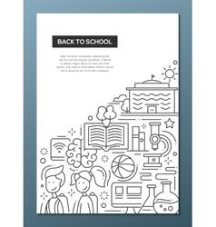 School education line design composition vector