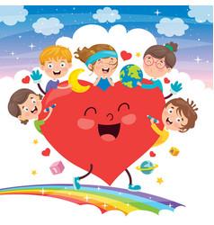 0219200concept design kids heart087 vector