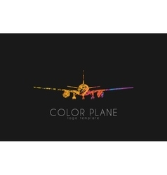 Airplane logo travel logo design Plane logo vector image