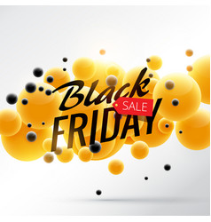amazing bright black friday sale poster with vector image